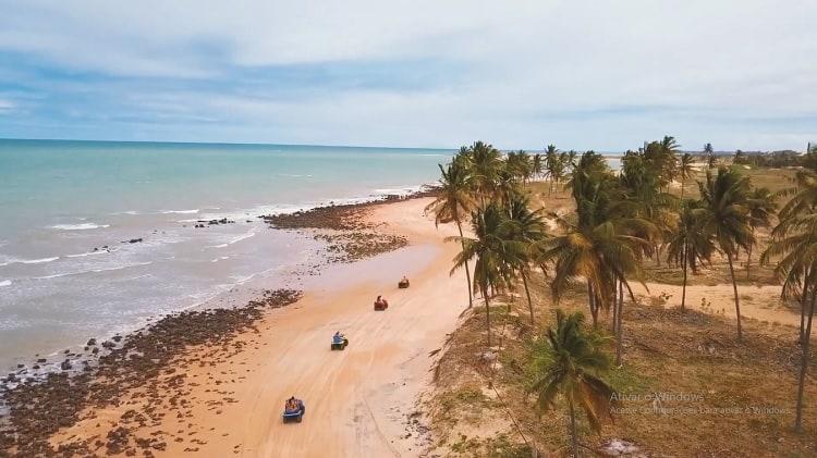 Passeio de quadriciclo e aventura em Maracajaú